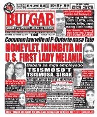SEPTEMBER 22, 2017 BULGAR: BOSES NG PINOY, MATA NG BAYAN