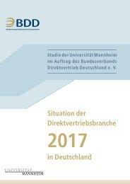 Situation der Direktvertriebsbranche in Deutschland 2017