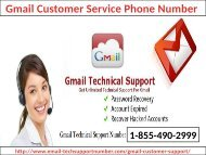 Gmail Customer Service Phone Number 1-855-490-2999 (toll-free)