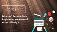 Examgood Microsoft MCSA 70-775 exam questions