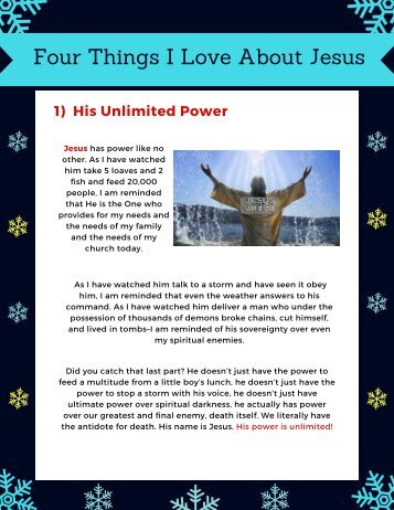 Four Things I Love About Jesus | Top Christian Books