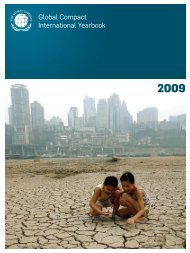 Global Compact International Yearbook 2009