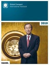 Global Compact International Yearbook Ausgabe 2010