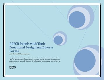 APFCR panels with their functional design and diverse forms