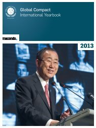Global Compact International Yearbook Ausgabe 2013