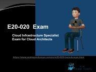 Pass EMC E20-020 Exam in First Attempt - EMC E20-020 Briandumps