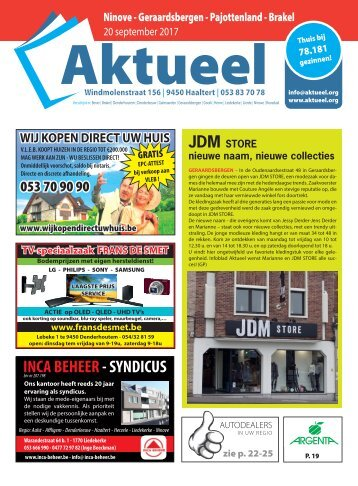 Editie Ninove 20 september 2017