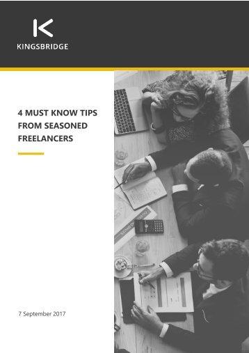 Freelancing tips from 4 seasoned freelancers
