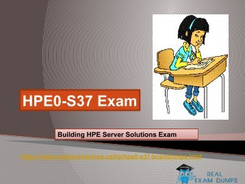 Download Real HP HPE0-S37 Exam Question Answer - HPE0-S37 Real Braindumsps