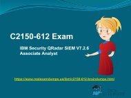 Valid IBM C2150-612 Exam Question Answers - C2150-612 Exam Dumps RealExamDumps