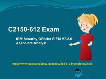 Valid IBM C2150-612 Exam Question Answers - C2150-612 Exam Dumps RealExamDumps