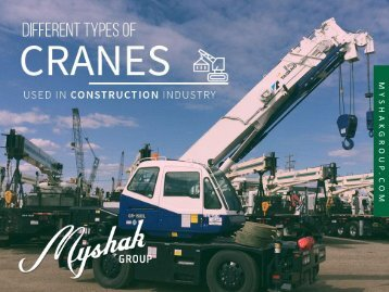 Different Types of Cranes Used in Construction Industry