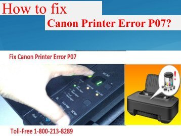 How to fix Canon Printer Error P07