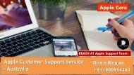 Apple Support Phone Number Australia  +611800954262