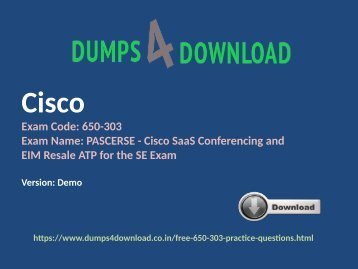 Free Cisco 650-303 Exam Study Material | Dumps4download.co.in