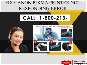 Fix canon pixma printer not responding Error