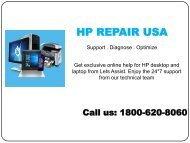 1-800-620-8060 HP Repair USA | HP Support Phone Number USA