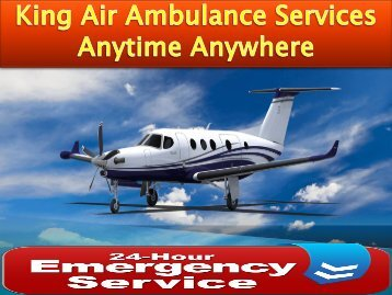 King Air Ambulance Service in Bhopal with Doctor Facility at Low Fare