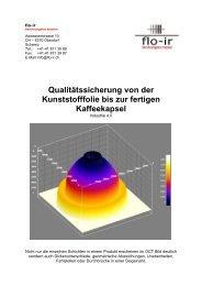 Qualitätssicherung von der Kunsstofffolie bis zur fertigen Kaffekapsel (Industrie 4.0)