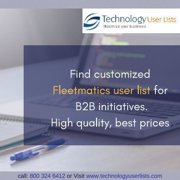 Fleetmatics Users Email List
