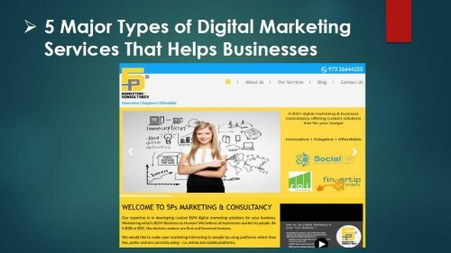 5 Major Types of Digital Marketing Services That Helps