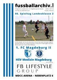 Programm 2017/18 LK 2 - 1. FC Magdeburg - HSV Medizin Magdeburg