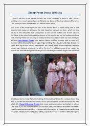 Cheap Prom Dress Website