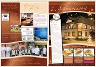 Hauszeitschrift Herbst 2011 - Landgasthof Schwanen