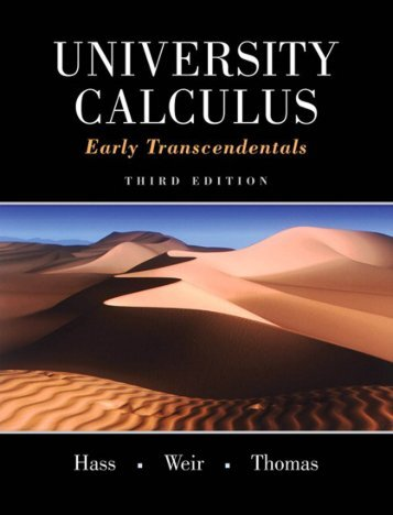 University Calculus Early Transcendentals Third Edition