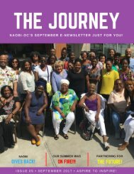 September NAOBI-DC E-Newsletter. The Journey