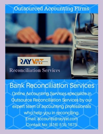 How will Outsource reconciliation services be useful