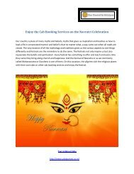 Cab Booking Services on the Navratri Celebration