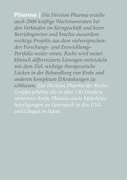 Roche Geschäftsbericht 2008 - Pharma