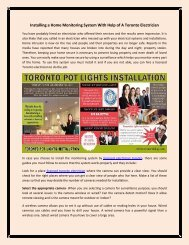 Electrician – Toronto Top Rated Electrical Installation Service