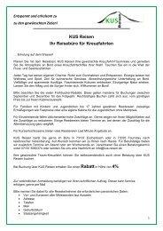 Kreuzfahrten Reisebüro - KUS Reisen, 73107 Eschenbach und 73035 Göppingen