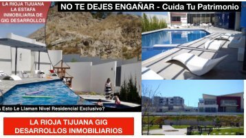 La Rioja Residencial Tijuana Fraccionamiento de Secuestros, Robos y Homicidios
