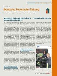 August 2009 - Deutscher Feuerwehrverband