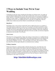 3 Ways to Include Your Pet in Your Wedding