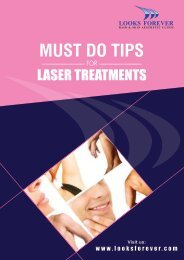 MUST DO TIPS FOR LASER TREATMENT