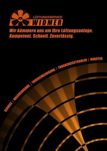 Broschüre Lüftungsservice Widmer, Wettingen