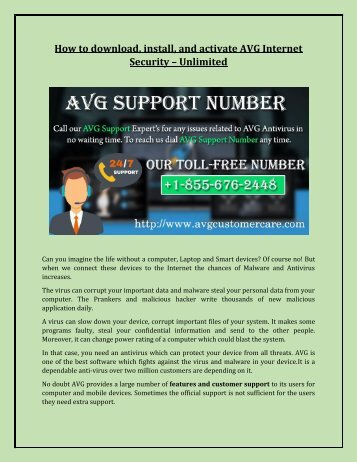 AVG Help Number +1-855-676-2448