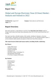 global-and-europe-electronic-nose-e-nose-market---analysis-and-outlook-to-2022-125-24marketreports