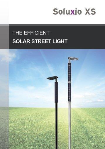Soluxio XS: The efficient solar street light
