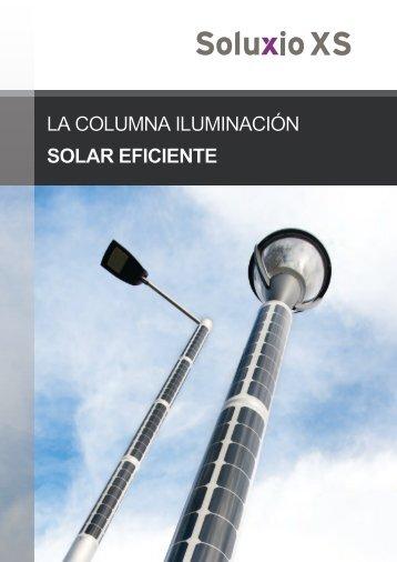 Soluxio XS: la columna iluminación solar eficiente