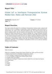 Global IoT in Intelligent Transportation System Market Size, Status and Forecast 2022