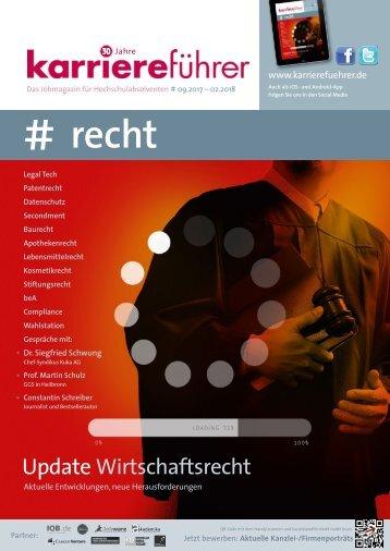 karriereführer recht 2.2017 - Wirtschaftsrecht: Aktuelle Entwicklungen, neue Herausforderungen