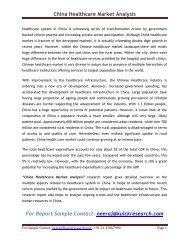 China Healthcare Market Analysis
