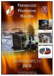JAHRESBERICHT 2010 - bei der Freiwilligen Feuerwehr Hallein