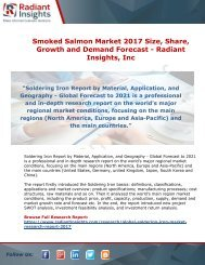 Smoked Salmon Market 2017 Size, Share, Growth and Demand Forecast – Radiant Insights