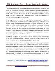 GCC Renewable Energy Sector Opportunity Analysis